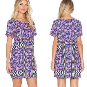 ✨ MinkPink Multi Floral Print Mini Shift Dress ✨